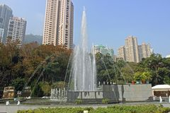 Fountain in the park, Hong Kong, Asia Royalty Free Stock Photography