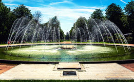 Fountain in the park Royalty Free Stock Images