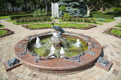 Fountain in the park of the Kremlin, Moscow Royalty Free Stock Photography
