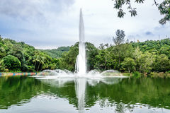 Fountain in the park. Located at the municipality park at hatyai bottom of the mountain Stock Photography