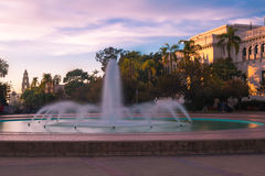 Fountain in the Park. A long exposure image of the Bea Evensen fountain in Balboa Park, San Diego, California royalty free stock photography