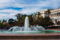 Fountain in the Park. A long exposure image of the Bea Evensen fountain in Balboa Park, San Diego, California royalty free stock photo