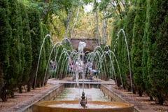 Fountain. A fountain in a park, in Palma de Mallorca royalty free stock images