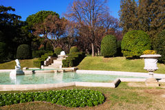 Fountain in Park of Pedralbes Royal Palace. Barcelona Royalty Free Stock Photography
