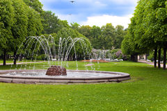 Fountain in park. Petersburg. Russia. Stock Images