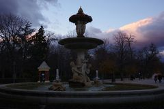 Fountain in park Retiro, Madrid, Spain Royalty Free Stock Photos