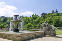 Fountain in the park of roses. Stock Images