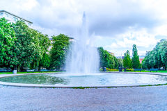 Fountain at park in Stockholm. (Horizontal Royalty Free Stock Images
