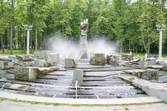 Fountain in a park Royalty Free Stock Photography