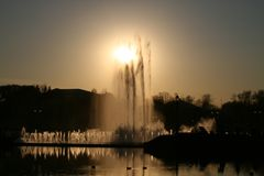 The fountain in the Park Tsaritsyno Royalty Free Stock Image