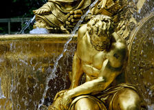 Fountain in park of Versailles. Fragment of fountain in park of Versailles, France Stock Photos