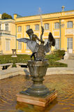 Fountain in the park in Wilanow. Wilanow Palace was built by King John III Sobieski in the last quarter of the 17th century. It is the pearl of Polish baroque Stock Photos