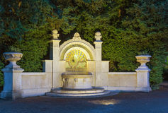 Fountain in the Park, Zurich Stock Image