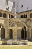 Fountain in patio of cloister Stock Photo