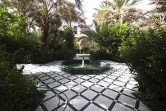 Fountain on patio in Mausolee Moulay Ali Chrif, Morocco Stock Photography