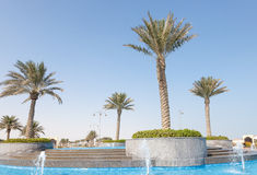 Fountain at The Pearl, Qatar Royalty Free Stock Photos