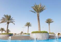 Fountain at The Pearl, Qatar Royalty Free Stock Photos