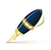 Fountain pen. Vector illustration of elegant fountain pen  on white background Stock Photography