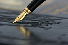 Fountain pen Stock Photography