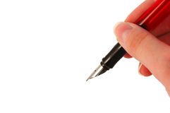 Fountain pen. Close-up of a fountain pen Stock Image