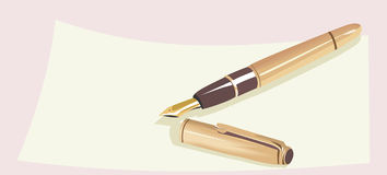 Fountain pen Royalty Free Stock Photography
