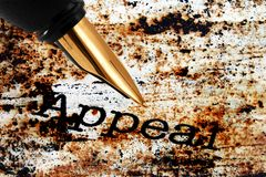 Fountain pen on appeal. Close up of Fountain pen on appeal Royalty Free Stock Photo