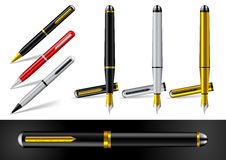 Fountain Pen and Ball Point Pen Stock Photos