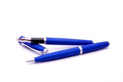 Fountain pen and ballpoint pen Stock Photo