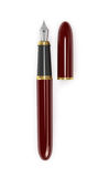 Fountain pen burgundy with gold Royalty Free Stock Image