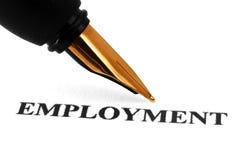 Fountain pen on employment Royalty Free Stock Photos