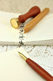 Fountain Pen and Envelopes Stock Photography