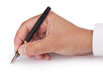 Fountain Pen in Hand Royalty Free Stock Photos