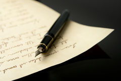 Fountain Pen and Letter Stock Images