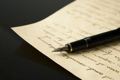Fountain Pen and Letter Royalty Free Stock Image