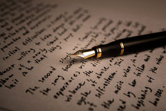 Fountain pen literature Royalty Free Stock Images