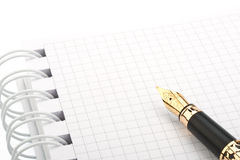 Fountain pen and notebook Royalty Free Stock Photography