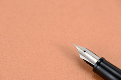 Fountain pen and notebook Stock Photo