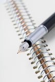 fountain pen on notebook Royalty Free Stock Image