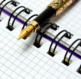 Fountain Pen on notebook Royalty Free Stock Photo