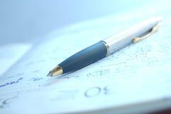 Fountain pen and organizer Stock Photos