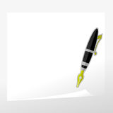 Fountain Pen and Paper Royalty Free Stock Images