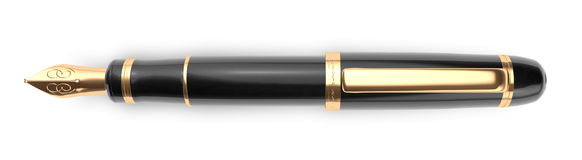 Fountain Pen, Paragraph Divider Royalty Free Stock Photography