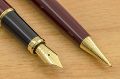 Fountain Pen and Pencil Set 05 Stock Photos