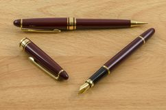 Fountain Pen and Pencil Set 02 Stock Images