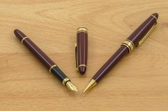 Fountain Pen and Pencil Set 03 Royalty Free Stock Photo