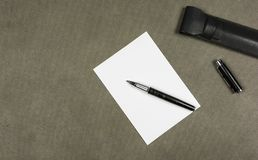 Fountain pen on a piece of paper. Royalty Free Stock Photography