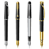 Fountain pen set Stock Image