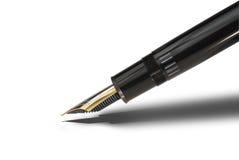 Fountain pen tip, isolated Stock Photo