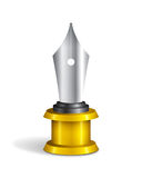Fountain Pen Trophy Royalty Free Stock Images