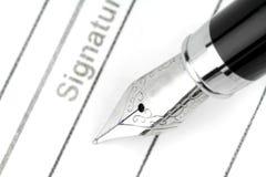 Fountain pen Stock Image